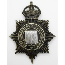 Northumberland Constabulary Night Helmet Plate - King's Crown