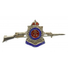 WWI Army Service Corps (A.S.C.) Sterling Silver & Enamel Rifle Sweetheart Brooch