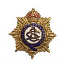 WWI Army Service Corps (A.S.C.) Brass & Enamel Sweetheart Brooch