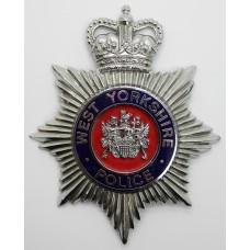 West Yorkshire Police Enamelled Helmet Plate - Queen's Crown