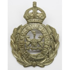 Newcastle-Upon-Tyne Police Wreath Helmet Plate - King's Crown