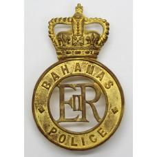 Bahamas Police Helmet Plate - Queen's Crown