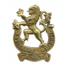 Canadians Veterans Guard of Canada Cap Badge