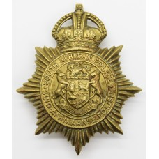 South African Police Helmet Plate - King's Crown