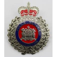 Canadian Edmonton Police Service Enamelled Cap Badge - Queen's Crown