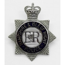 Hampshire & Isle of Wight Police Senior Officer's Enamelled Cap Badge - Queen's Crown