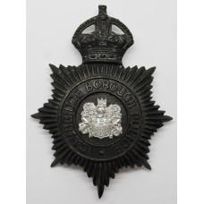 Cambridge Borough Police Night Helmet Plate - Kings Crown