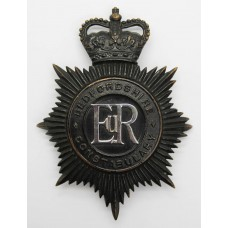 Bedfordshire Constabulary Night Helmet Plate - Queen's Crown