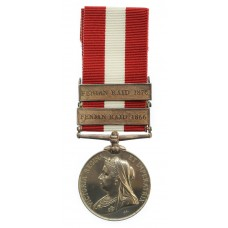 Canada General Service Medal 1866-1870 (Clasp - Fenian Raid 1866, Fenian Raid 1870) - Sgt. A.L. Grindrod, 2nd Sherbrooke Rifle Company