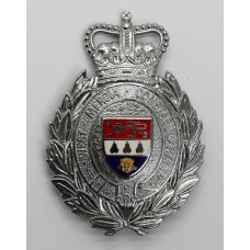 West Mercia Constabulary Wreath Helmet Plate - Queen's Crown