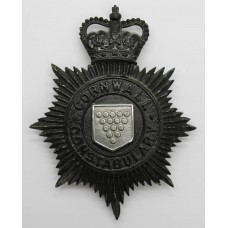 Cornwall Constabulary Night Helmet Plate - Queen's Crown