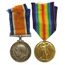 WW1 British War & Victory Medal Pair - 3.A.M. J.H.M. Mulford,