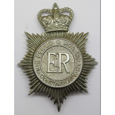 Sheffield and Rotherham Constabulary Helmet Plate - Queens Crown