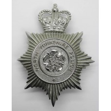 North Yorkshire Police Helmet Plate - Queen's Crown