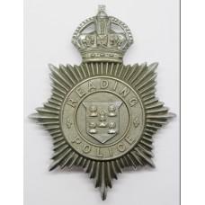 Reading Borough Police Helmet Plate - Kings Crown