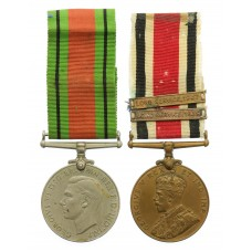 WW2 Defence Medal and George V Special Constabulary Long Service Medal (2 Bars - Long Service 1939, Long Service 1947) - Horace P. Hawes