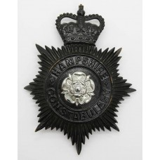 Hampshire Constabulary Night Helmet Plate - Queen's Crown