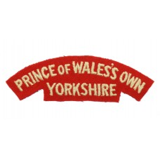Prince of Wales's Own Regiment of Yorkshire (PRINCE OF WALE'S OWN/YORKSHIRE) Cloth Shoulder Title