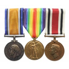 WW1 British War Medal, Victory Medal and George VI Special Constabulary Long Service Medal Group of Three - Gnr. R.M. Cooper, Royal Artillery