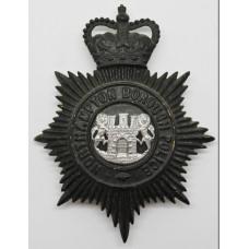 Northampton Borough Police Night Helmet Plate - Queens Crown