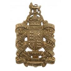 King Edward's Horse Brass Cap Badge - King's Crown