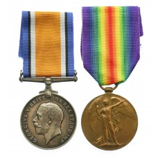 WW1 British War & Victory Medal Pair - Pte. T. Reaney, 1/4th