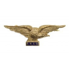WWI Royal Naval Air Service (R.N.A.S.) Pilot's Wings Brass &