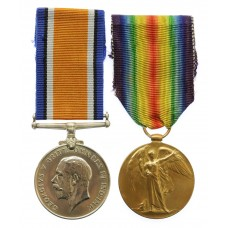 WW1 British War & Victory Medal Pair - Cpl. W. Cuthbert, 90th Coy, Machine Gun Corps - K.I.A. (Somme, 3/7/16)