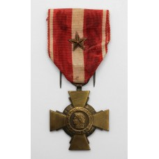 French Cross of Military Valour with Citation Star (Croix de la Valeur Militaire)