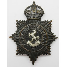 Kent Constabulary Night Helmet Plate - King's Crown