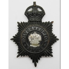Wolverhampton Police Night Helmet Plate - King's Crown