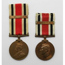 Father & Son Special Constabulary Long Service Medals - Stickels Family