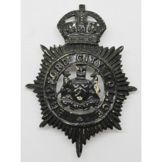 Bradford City Police Night Helmet Plate - King's Crown