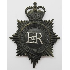 Hertfordshire Constabulary Night Helmet Plate - Queen's Crown