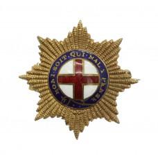 Coldstream Guards Brass & Enamel Sweetheart Brooch
