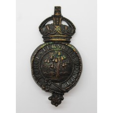 Worcestershire Police Helmet Plate - King's Crown