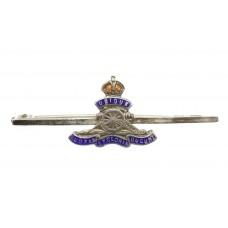 Royal Artillery Silver & Enamel Sweetheart Brooch/Tie Pin - K