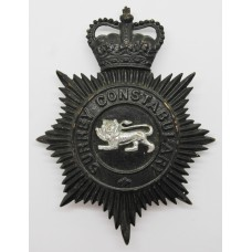 Surrey Constabulary Night Helmet Plate - Queen's Crown