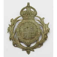 Leeward Islands Police Helmet Plate - King's Crown