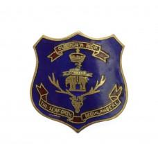 WW1 Seaforth Highlanders Blue Enamelled Shield Sweetheart Brooch.