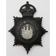 Eastbourne Borough Police Night Helmet Plate - King's Crown