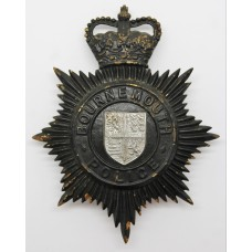 Bournemouth Police Night Helmet Plate - Queen's Crown
