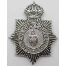 Stoke -on- Trent City Police Helmet Plate - King's Crown