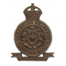 Queen's Own Yorkshire (Yeomanry) Dragoons Bronze Cap Badge