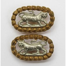 Pair of Leicestershire Regiment Bi-metal Collar Badges