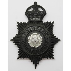 Hampshire Constabulary Night Helmet Plate - King's Crown