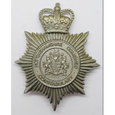 Nottinghamshire Combined Constabulary Helmet Plate - Queen's Crown