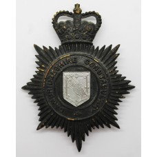 Cambridgeshire Constabulary Night Helmet Plate - Queen's Crown