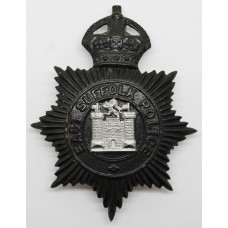 East Suffolk Police Night Helmet Plate - King's Crown