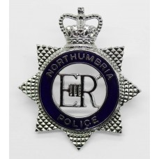 Northumbria Police Senior Officer's Enamelled Cap Badge - Queen's Crown